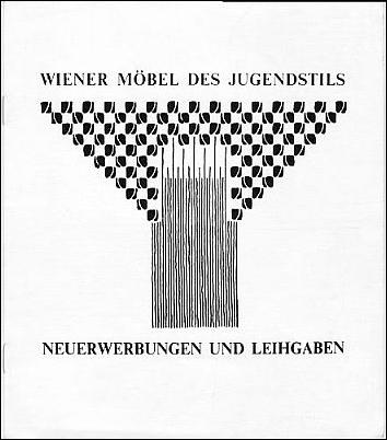 Ausstellung Wiener Möbel des Jugendstils. Neuerwerbungen und Leihgaben.