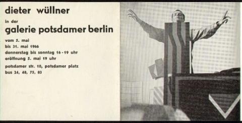 Dieter Wüllner (*1939). Dieter Wüllner in der Galerie Potsdamer Berlin.