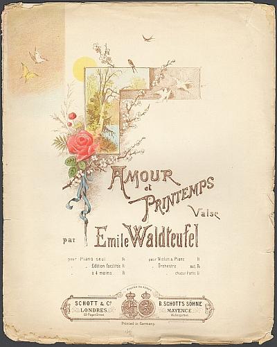 Waldteufel, Emile: Amour et Printemps. Valse pour piano.