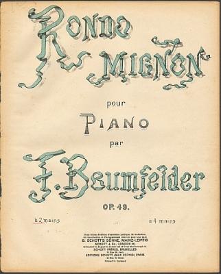 Baumfelder, Friedrich: Rondo Mignon pour Piano par F. Baumfelder, op. 49.