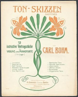 Bohm, Carl: Ton-Skizzen / Sketches. 12 instructive Vortragsstücke für Violine und Pianoforte. Nr. 1: Invocation.