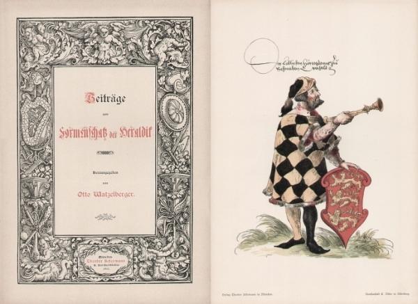 Watzelberger, Otto. Beiträge zum Formenschatz der Heraldik. 0