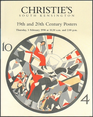 Christie's South Kensington. 19th and 20th Century Posters. Auction catalogue, 5 February 1998.