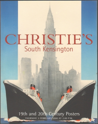 Christie's South Kensington. 19th and 20th Century Posters. Auction catalogue, 3 February 2000.