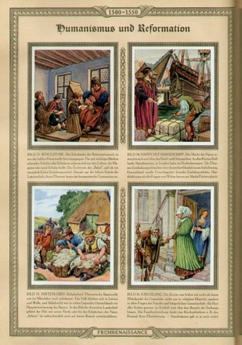 Deutsche Kulturbilder. Deutsches Leben in 5 Jahrhunderten 1400-1900. Zigarettenbilderalbum.
