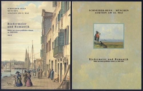 Dietrich Schneider-Henn: Biedermeier und Romantik. Bilder aus einem gräflichen Album, ca. 1820-1850, Teil I + II. 2 Kataloge.