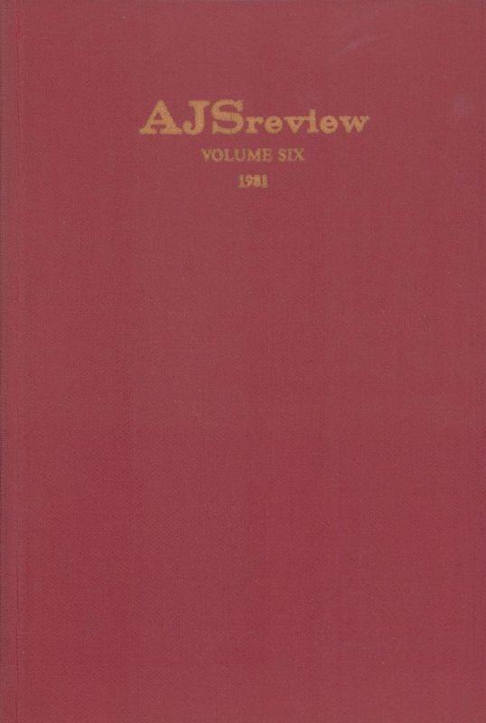 AJS review. Vol. 6. (Edited by Frank Talmage, Benjamin Ravid, Lloyd P. Gardner, Nahum M. Sarna).