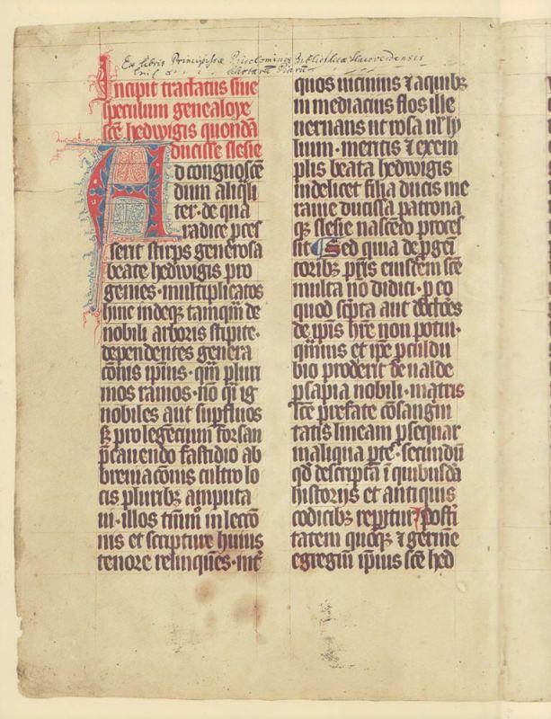 Der Hedwigs-Codex von 1353. Sammlung Ludwig. FAKSIMILE der vollständigen Handschrift (und:) Texte und Kommentare. 2 Bde. Hrsg. von Wolfgang Braunfels.
