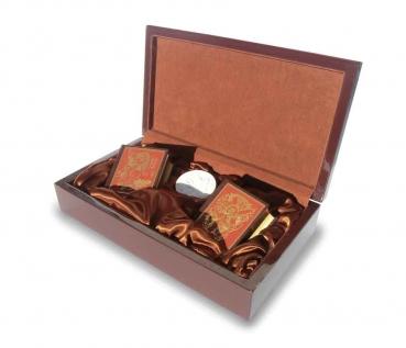 Bilder-Bibel des Alten und Neuen Testamentes. Miniaturbuch. PRACHTAUSGABE. 2 Bde mit original Meissener Medaille (Bisquitporzellan).