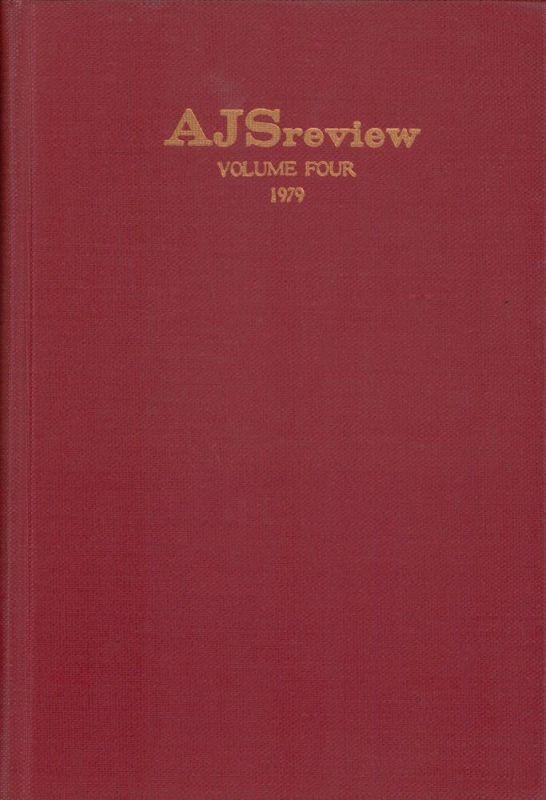 AJS review. Vol. 4. (Edited by Frank Talmage, Benjamin Ravid, Charles Berlin).