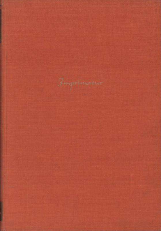 Imprimatur. Ein Jahrbuch für Bücherfreunde. BAND VII. (Hrsg. von Siegfried Buchenau u. Konrad F. Bauer).