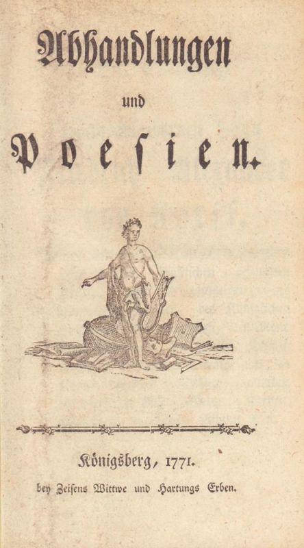 Abhandlungen und Poesien. [Hrsg v. d. Königlichen Deutschen Gesellschaft].