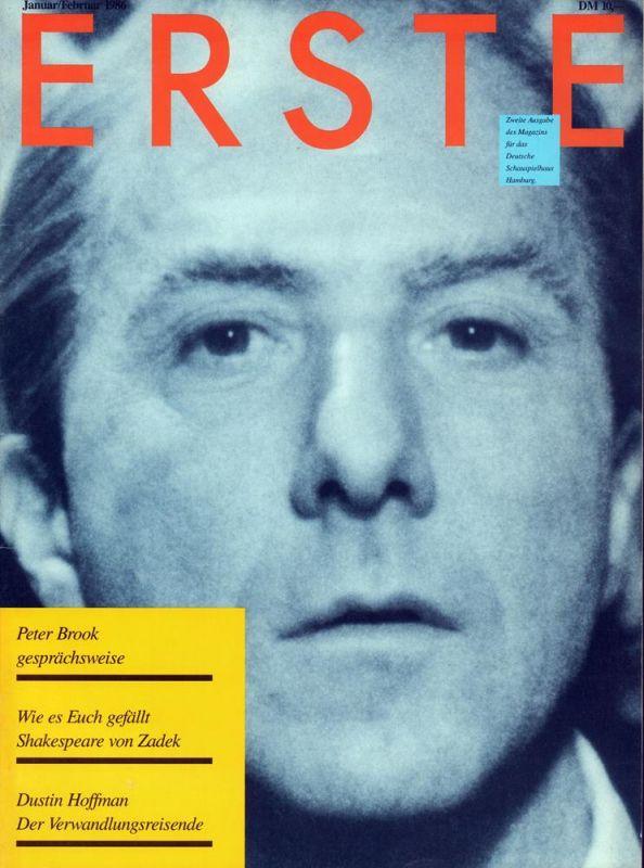 Erste. [HEFT 2] / Januar/Februar 1986. Zweite Ausgabe des Magazins für das Deutsche Schauspielhaus Hamburg. (Hrsg.: Dietmar N. Schmidt. Red.: Joachim Nickel).