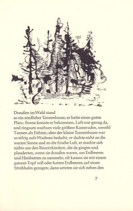 Andersen, Hans Christian. Der Tannenbaum. Ein Märchen. Illustriert von. Erich Jasorka.