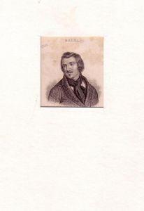 PORTRAIT Honoré de Balzac. (1799 Tours - 1850 Paris, französischer Schriftsteller). Schulterstück im Halbprofil. Stahlstich.
