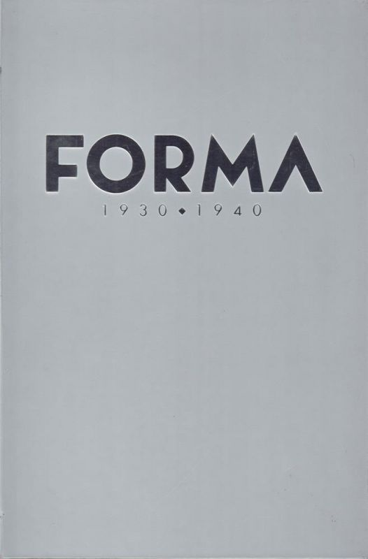 Chigiotti, Giuseppe. Forma. (Industrial design in Italy ) 1930- 1940. (Translation into English by Christopher Huw Evans).