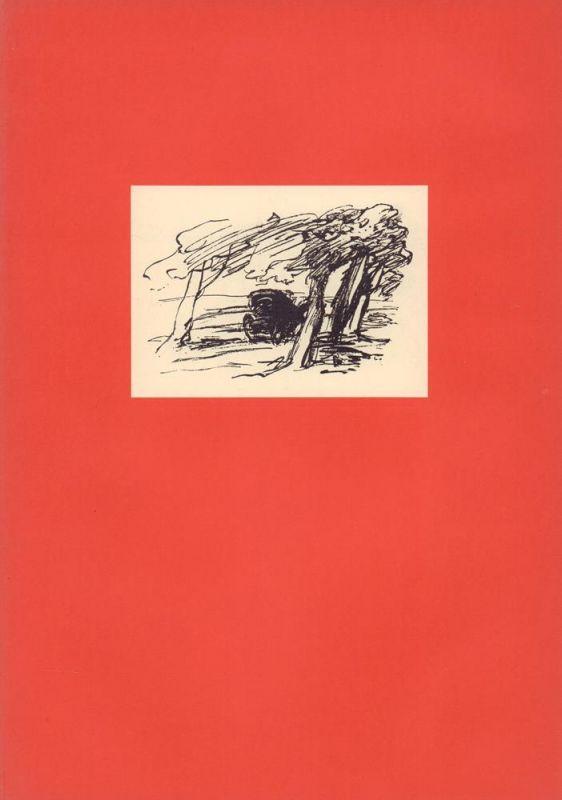 Goethe, Johann Wolfgang von. Das Tagebuch. Mit 8 Originalzeichnungen von Rudolf Kriesch.