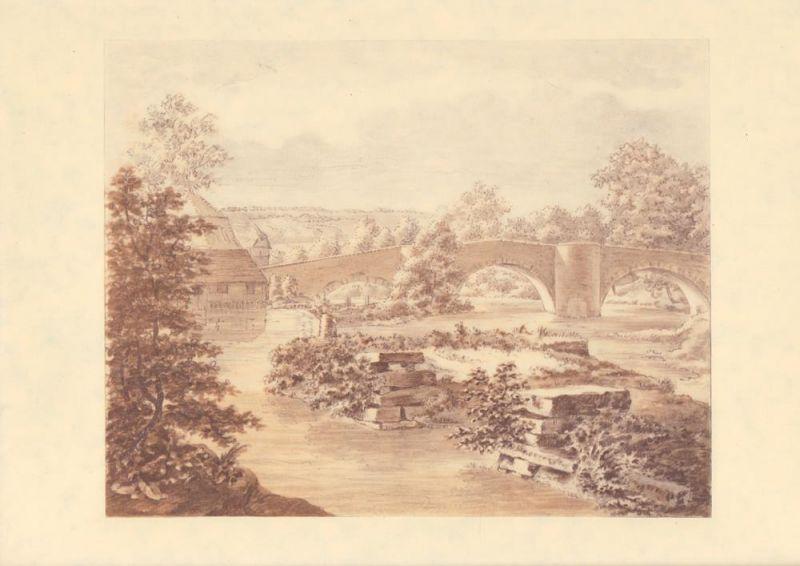 Neun Parkzeichnungen Goethes in naturgetreuen Lichtdrucken.