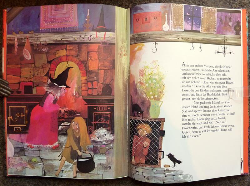 Grimm, Jacob / Grimm, Wilhelm. Hänsel und Gretel. [Ein Märchen der] Brüder Grimm. Bilder von Bernadette.