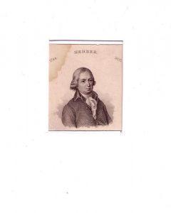 PORTRAIT Johann Gottfried Herder. (1744 Mohrungen - 1803 Weimar, deutscher Dichter, Übersetzer, Theologe). Brustbild en face. Stahlstich.