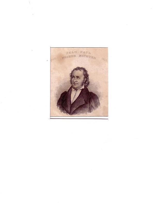 PORTRAIT Jean Paul. (1763 Wunsiedel-1825 Bayreuth, deutscher Dichter). Brustbild im Dreiviertelprofil. Stahlstich.