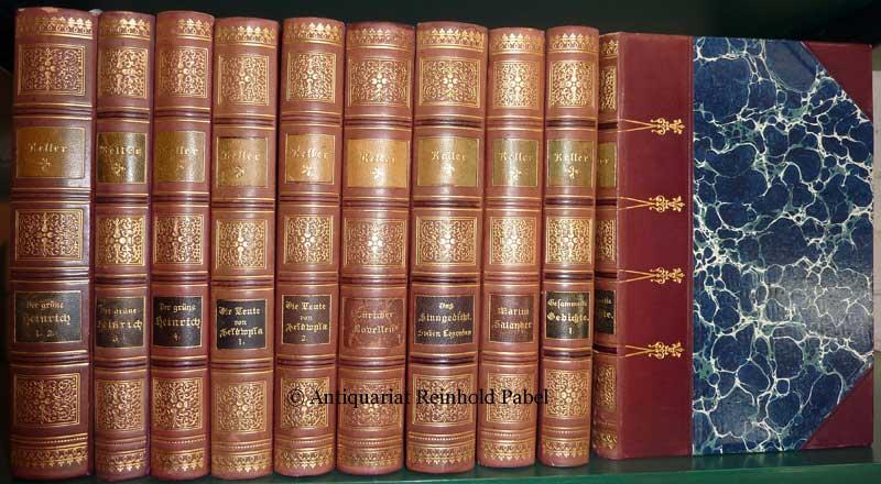 Keller, Gottfried. Gesammelte Werke. 10 Bde. Mischaufl.