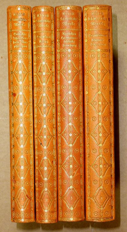 Kleist, Heinrich v. -. Kleists Sämtliche Werke. (Hrsg. v. Arthur Eloesser). 4 Bde. (v. 5).