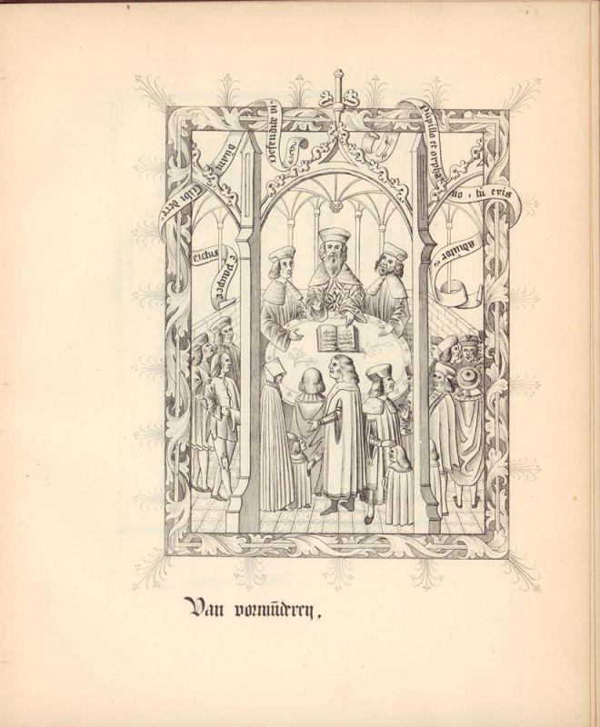 Lappenberg, J. M. (Johann Martin). Die Miniaturen zu dem Hamburgischen Stadtrechte vom Jahre 1497.