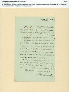 Eigenhändiger Brief mit Unterschrift. Mit schwarzer Tinte auf dünnem Schreibpapier mit Wasserzeichen-Prägestempel (Superfine Paper Bath mit Krone). Blankenese d. 4. Sept. 1854.
