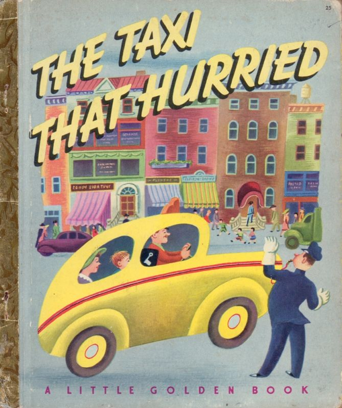 The taxi that hurried. Pictures by Tibor Gergely.