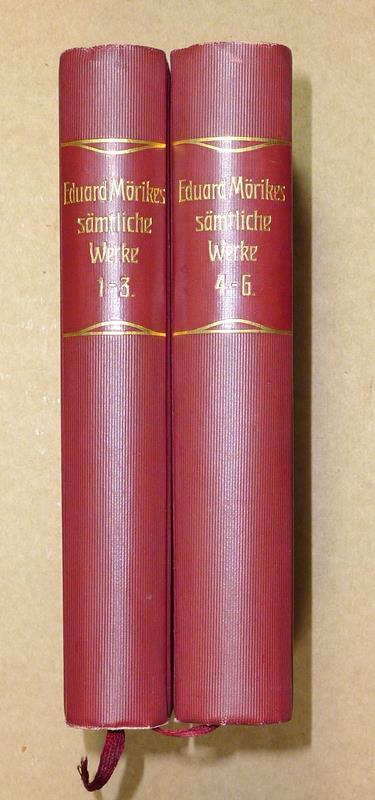 Mörike, Eduard. -. Eduard Mörikes sämtliche Werke in sechs Bänden. 6 Bde. in 2 Bdn. (= komplett). Hrsg. von Rudolf Krauß.
