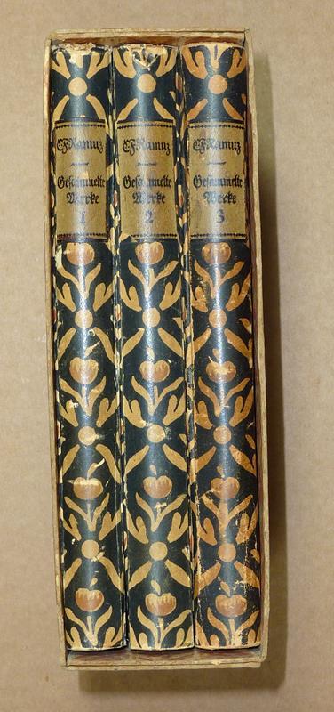 Ramuz, C. F. [Charles Ferdinand]. Gesammelte Werke. Unter Mitwirkung des Verfassers herausgegeben von Albert Baur. 3 Bde. (= komplett).