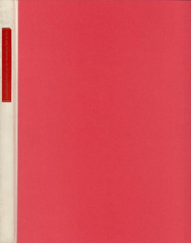 Musikhandschriften aus der Sammlung Paul Sacher. Festschrift zu Paul Sachers siebzigstem Geburtstag. In Verbindung mit Ernst Lichtenhahn und Tilman Seebass hrsg. von F. Hoffmann-La Roche & Co. A.G., Basel.