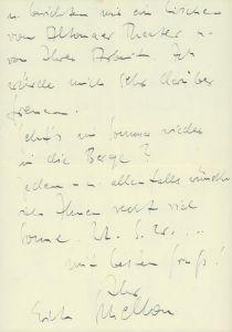 Eigenhändiger Brief an Frl. Schittat, Hamburg, 1. V. [19]40.