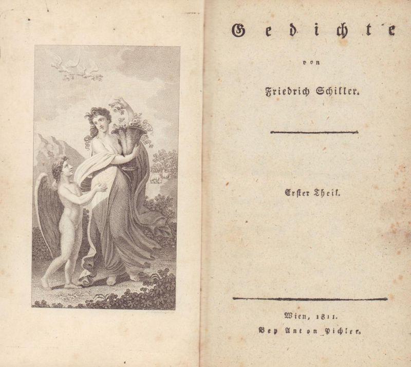 Schiller, Friedrich. Gedichte. Erster [u. zweyter] Theil. 2 Bände.