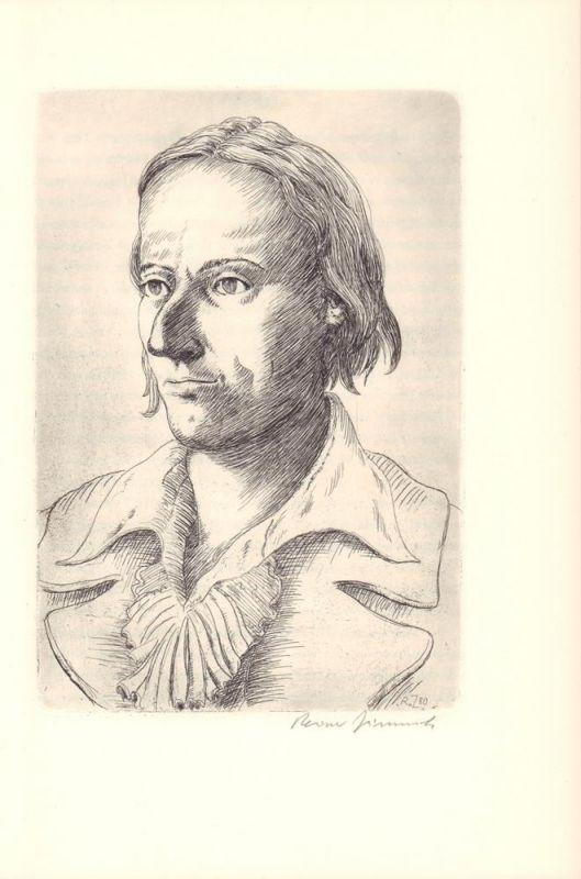 Schiller, Friedrich. Die Gesetzgebung des Lykurgus und Solon. Mit einer Original-Radierung von Reiner Zimnik.