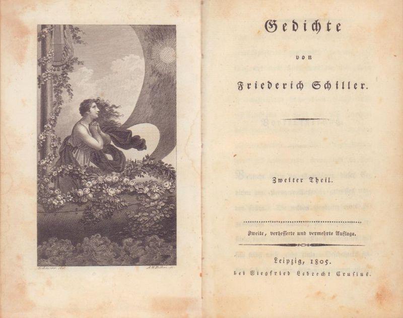 Schiller, Friedrich. Gedichte. Theil 2 (von 2) apart. 2., verbesserte u. vermehrte Aufl.