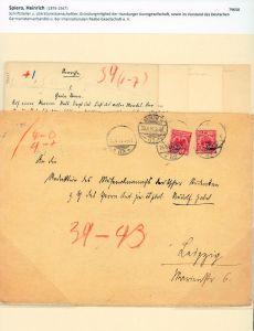Zwei eigenhändige Manuskripte [ohne Unterschrift]. Mit schwarzer Tinte in deutscher Kurrentschrift geschrieben. Charlottenburg [1897].