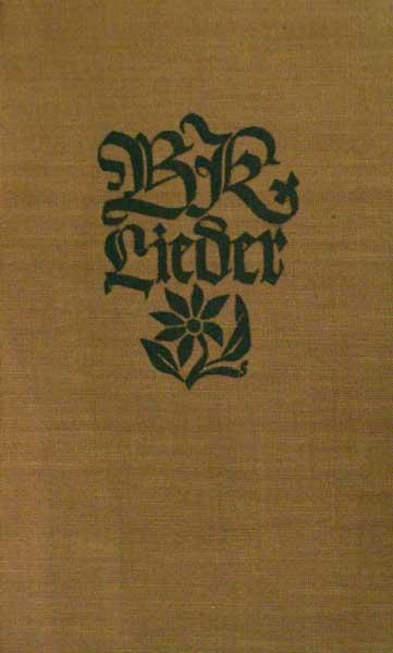 Sturm, Paul (Hrsg.). BK-Lieder. Ein Jahrtausend deutschen Liedes. 111.-130. Tsd.