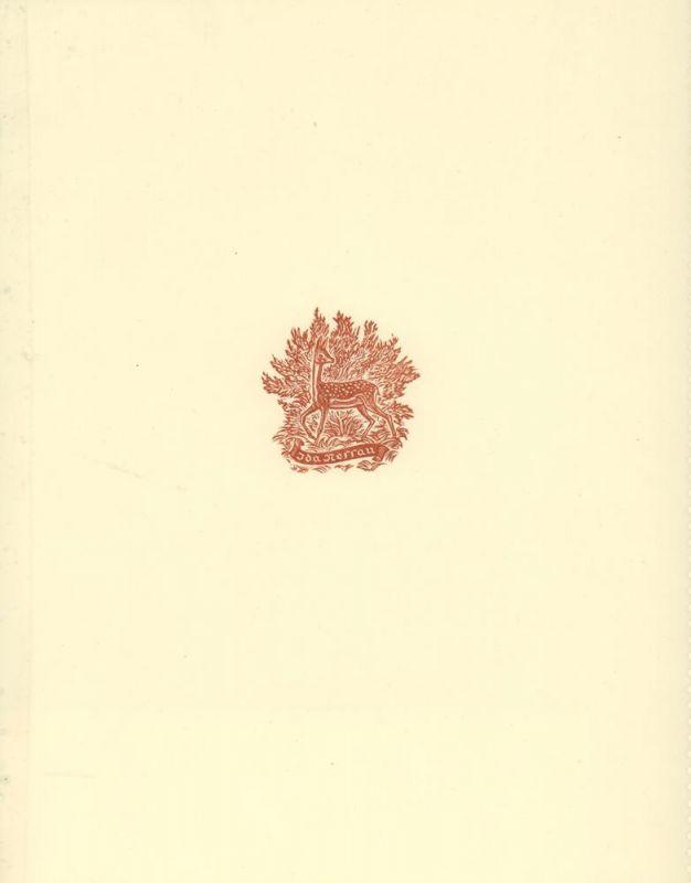 Weber, A. Paul. EXLIBRIS Ida Nessau. Holzschnitt. 1 von 200 nn. Exemplaren.
