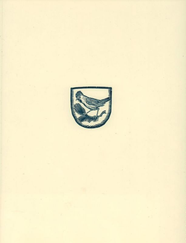 Weber, A. Paul. EXLIBRIS Nr. 9. Holzschnitt. 1 von 200 nn. Exemplaren.