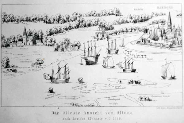 Wichmann, E. H. [Ernst Heinrich]. Geschichte Altona's. Unter Mitwirkung eines Kenners der vaterstädtischen Geschichte [Röper] hrsg.