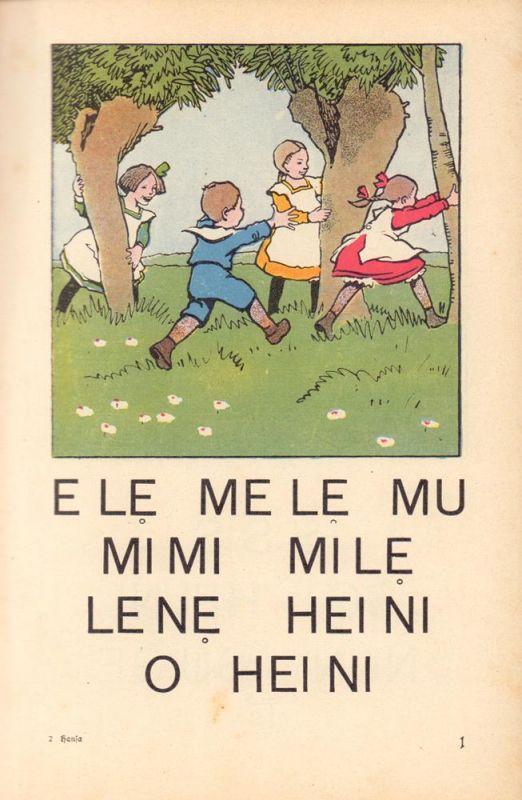 Zimmermann, Otto. Hansa-Fibel. Erstes Lesebuch für Hamburger Kinder. Mit über hundert farbigen Bildern von Eugen Osswald Ausgabe K. 10. Aufl.
