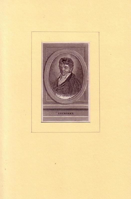 Zschokke, Heinrich. -. PORTRAIT Heinrich Zschokke. (1771 Magdeburg - 1848 Aarau, Schriftsteller und Pädagoge). Brustbild im Dreiviertelprofil. Kupferstich.