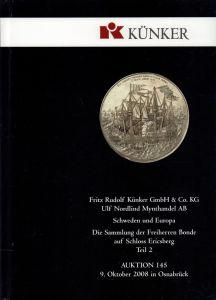Myntauktion / Münzauktion / Coin auction. 2 Kataloge.