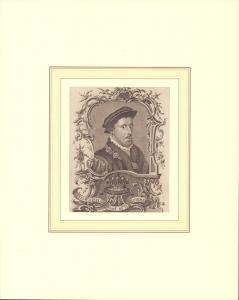 PORTRAIT Howard Earl of Surrey. Schulterstück im Dreiviertel-Profil nach rechts, in Kupfer gestochen von Tringham.