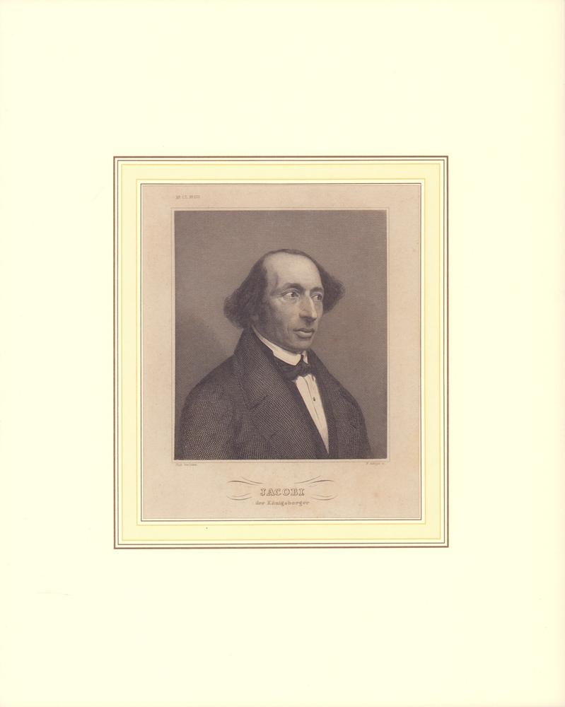 PORTRAIT Jacobi [sic!], der Königsberger. Schulterstück im Halbprofil, gestochen von N. Afinger. 0