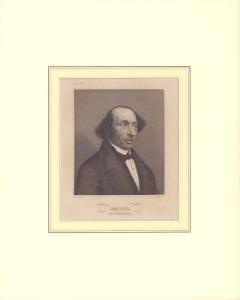 PORTRAIT Jacobi [sic!], der Königsberger. Schulterstück im Halbprofil, gestochen von N. Afinger.