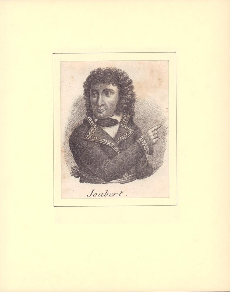 PORTRAIT Joubert. Brustbild im Dreiviertelprofil. 0