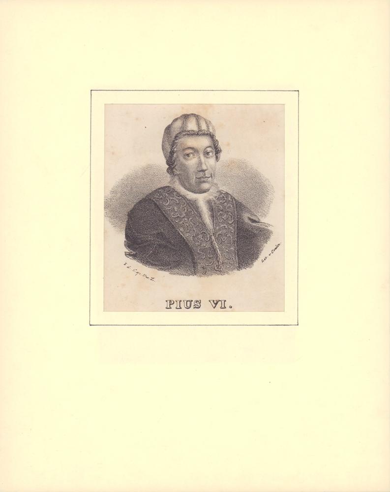PORTRAIT Pius VI. Schulterstück im Halbprofil. 0